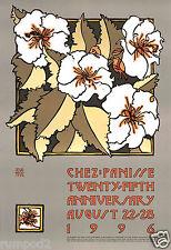 Advertising Art Deco Poster/ Kitchen Decor/Chez Panisse Restaurant 1996 /Anniv.
