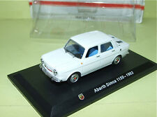 SIMCA 1150 ABARTH Blanc 1963 HACHETTE sous blister