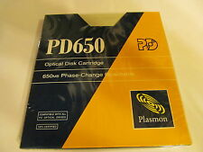 PLASMON PD650 650 MB PHASE-CHANGE REWRITABLE OPTICAL DISC CARTRIDGE.