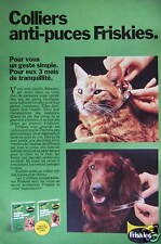 PUBLICITÉ 1980 FRISKIES COLLIERS ANTI-PUCES - CHAT - ADVERTISING