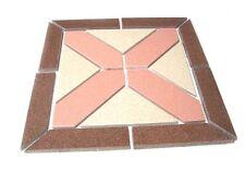 Bodendekoration 32,7x32,7cm Rosone Feinsteinzeug Feinsteinzeugdekor Odessa beige