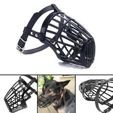 More details for pet dog muzzle mouth mesh mask cover basket no barking chewing biting black new