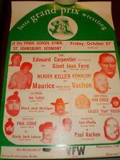 Andre the Giant Jean Ferre 1973 Grand Prix wrestling vintage poster (wwe wwf nwa