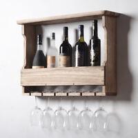 Wall Mount Wine Bottle Glass Holder Storage Rack Shelf Home Bar Decor Shelf 2020