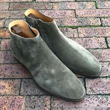 Carlos Santos - Style 9584 Side Zip Boot - Loden Suede