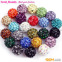 10mm Pave Beads Crystal Disco Ball Beads Jewelry making Rhonestones Beads 10 Pcs