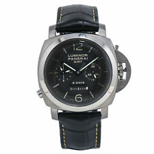 Panerai Luminor PAM00311 8 Days GMT Titanium Automatic Brown Dial Watch 44mm