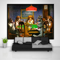 Dogs Poker Tapestry Art Wall Hanging Sofa Table Bed Cover Poster