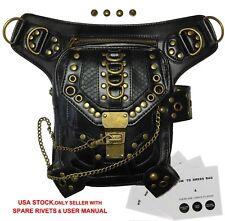 Steampunk Bag Steam Punk Retro Rock Gothic Shoulder Waist Bags PU Leather