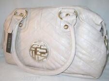 GUESS by Marciano OYSTER Rhinestone Logo Milk Satchel Bag Purse Sac New