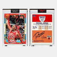 Michael Jordan 1996 Fleer Rookie Card Tongue Dunk Art by RENCY Signed S/N of 230