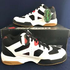 NEW Ektelon Racquetball Shoes NFS Attack Mid White/Black/ Red - US Mens size 8.5
