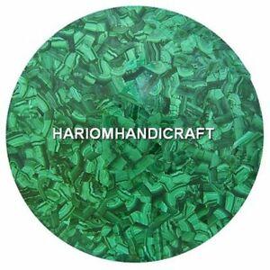 "30"" Malachite Stone Marble Coffee Table Top Inlay Handmade Arts Furniture Decor"