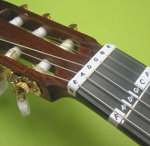 SPANISH GUITAR FRET NOTE STICKERS  Learn Acoustic Classical Nylon Label Decal