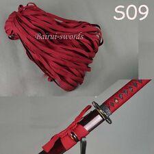 rDark Red Tsuka ito&Sageo Wrapping Cord for Japan Samurai Sword Katana Wakizashi