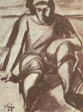 Cartolina Autografo Pittore Agamennone Vitrio Savona Acquerellisti Liguria 1964