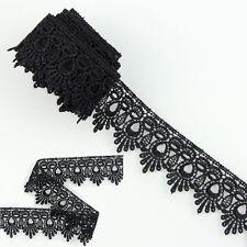 3 Yards Black Polyester Lace Trims Venise Dress Sewing Crafts Applique DIY HOT