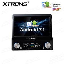 "UK 7"" Single 1 DIN Android 7.1 Car DVD Player Stereo Radio Motorized GPS Sat Nav"