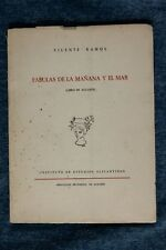 Libro Fábulas de la mañana y el mar. Libro de Alicante. 1960 Book Fables of the