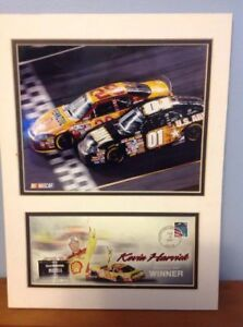 Kevin Harvick 2007 #29 SHELL Daytona Race USPS Picture with Matted Frame