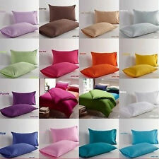 Patternless 100% Cotton Pillow Cases