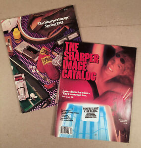 Lot of Two THE SHARPER IMAGE CATALOGS - Spring 1983 and Holiday 1984