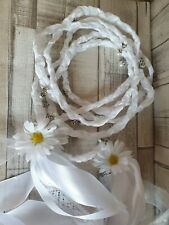 Handfasting ribbon lace Wedding Hand fasting Binding Cord lace & white
