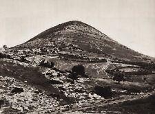 1925 Vintage MOUNT TABOR Road Landscape ISRAEL Palestine Religion Photo Art