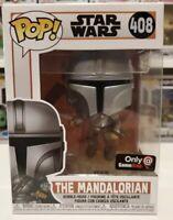 Funko Pop Star Wars The Mandalorian Flying With Blaster GameStop LTD Ed In Hand