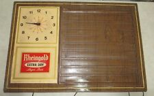 "Rheingold Beer Huge Wall Clock! 22""x30""! Missing clock hand. Vintage!"