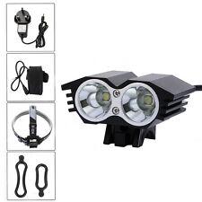 6000LM 2X CREE XM-L U2 LED Front Bicycle Head Lamp Bike Light Cycling Headlight