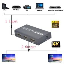 Hot 4K HDCP HDMI Audio Extractor Splitter 1 In 2 Out Auto EDID With DTS LPCM 7.1