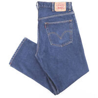 Vintage LEVI'S 505 Blue Denim Regular Straight Jeans Mens W38 L30