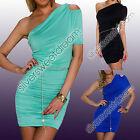 Dress Woman Sexy Little Evening Belt Mint Stretch Bodycon Short/Mini No Pattern
