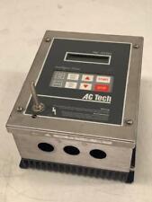 1 HP AC TECH AC MOTOR DRIVE, M1410E, 400/480V, 3 PH, Used