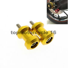 FXCNC Gold Swingarm Spool Slider For Kawasaki  ER-6N / ER-6F 2005-2013 2012 2011