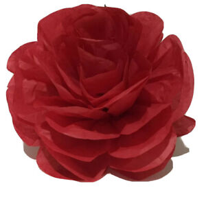 5 x Red Large Paper Flowers Hanging Wedding Backdrops Party Events Decorations