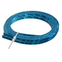 2 Pcs Guitar Binding Purfling for Luthier Maker Blue Celluloid 1650*4*1.5mm