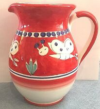 Vietri-Butterfly 1 liter Pitcher(Chicken campagnaStyle)Made/Paint by hand-Italy