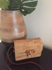 Bali Island Hand-Woven Rattan Bag Straw Purse Handmade Wicker Crossbody