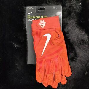 NEW Nike Batting Gloves Adult XL Orange Huarache Elite Baseball MSRP $65