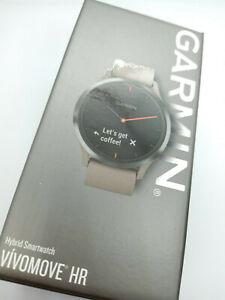Garmin Vivomove HR Hybrid Smart Watch Analogue Hidden Digital Display Bluetooth