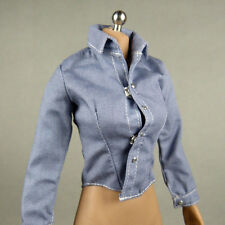 1/6 Scale Phicen, Hot Toys, Kumik, Cy Girl, ZC & NT Female Pale Blue Shirt