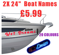 BOAT NAMES  x2  Custom Decals Stickers / Graphics  PERSONALISED
