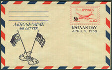 1958 Philippines BATAAN DAY Air Mail Cover