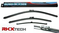 RKX Front + Rear Windshield Wiper Blades set of 3 fit. FOR AUDI 2009+ B8  Avant