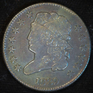 1829 Classic Head Half Cent, Almost Uncirculated Details, Old Scratch Obv, C4721