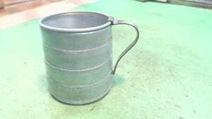 Vintage- 1912 Pat. -Aluminum collapsible cup - with Stainless Handle