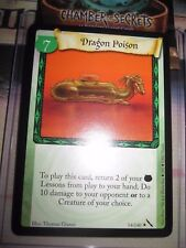HARRY POTTER TCG CARD CHAMBER OF SECRETS DRAGON POISON 14/140 RARE MINT ENGLISH