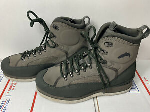SIMMS Freestone FELT SOLE Wading Boot Mens 10 Fly fishing Olive Lightly Used